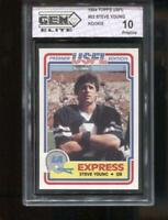 STEVE YOUNG RC 1984 TOPPS USFL #52 49ERS EXPRESS ROOKIE GEM ELITE 10 PRISTINE