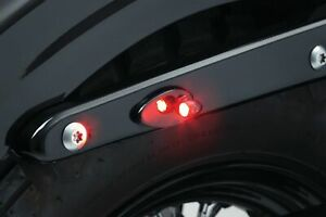 Kuryakyn Kellermann Atto Black Rear Red Running Turn Signal Brake Light Accents