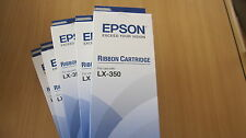 EPSON RIBBON CARTRIDGE S015637 FOR USE WITH LX - 350 - SET OF 5!