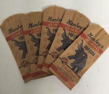 MANLEY THEATER 5 POCORN BAGS  1940's Vintage Antique Advertising Vending Machine