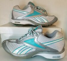 REEBOK TRAINTONE SILVER/AQUA RUNNING SHOES WOMEN Sz 6.5 M