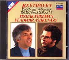 Perlman & Ashkenazy: Beethoven Violin Sonata No. 1 2 3 Decca CD ltzhak Vladimir