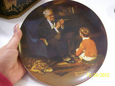 "Norman Rockwell collectors plate ""The Tycoon"""