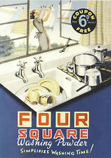 ROBERT  OPIE  ADVERTISING  POSTCARD  -  FOUR  SQUARE  WASHING  POWDER