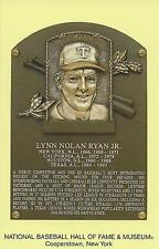 NOLAN RYAN -Baseball Hall of Fame- INDUCTION Plaque Postcard- METS/RANGERS