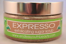Natural Body Sugar Exfoliating Scrub Espresso Coffee Professional Range 250ml