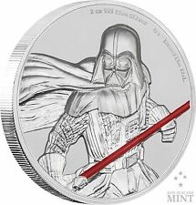 2017 NIUE - STAR WARS - DARTH VADER ULTRA HIGH RELIEF - 2 OZ - 1st COIN