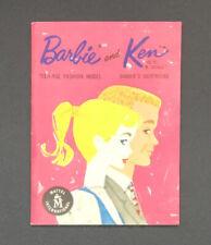 Original 1961 Barbie & Ken Fashion Booklet Teenage Fashion Model He's A Doll!