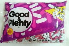 Good and Plenty Licorice Candy 5 LB bag, a fat free candy, Hershey, USA