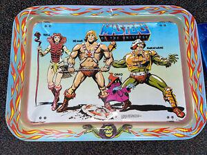 Vintage Mattel 1982 Masters Of The Universe He-Man TV Lap Metal Tray