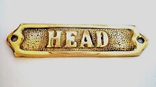 "DOOR SIGN "" HEAD"" BRASS - PLAQUE AND SIGNS - NAUTICAL - BOAT - MARITIME"