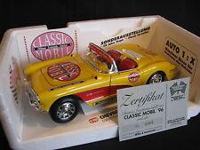 """Bburago Chevrolet Corvette 1957 1:18 Yellow """"Classic Automobil 1996"""" (JS)"""