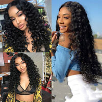 Ladies Women's Front Hair Wigs Deep Wave Curly  Brazilian Pre Hair Wigs New