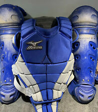 Mizuno Youth Catchers Gear Royal Blue Chest And Knee Pad