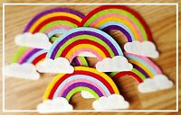 Set Of 2 Rainbows And Clouds Die Cut Craft Embellishments 🌈