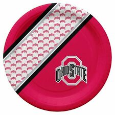 Ohio State Buckeyes Disposable Paper Plates - 20 Pack [NEW] NCAA Party Tailgate