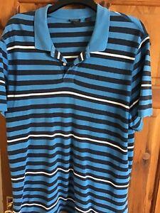 Men's DKNY Blue polo shirt Top XL / XXL