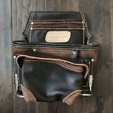 Adjustable Leather Tool Belt Pocket Pouch Bag Construction Carpenter AWP HP