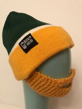 Beard Head Winter Hat Packers Colors Green Yellow Knitted Novelty Beanie