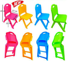 NEW High-Quality Folding Kids Children Plastic Chair For Home & Garden 4 Colours