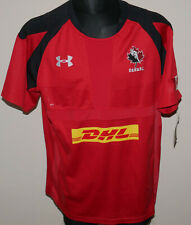 New Team Canada Rugby Jersey Under Armour Dhl Men's Xl Red Black Shirt Jersey