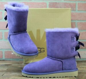 UGG KIDS K BAILEY BOW BOOTS, 3280K/BRRY Berry, KID, Size EUR 30/US 13, NEW
