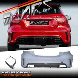 AMG A45 MY16 Style Rear Bumper Bar & Carnards for Mercedes-Benz A Class W176