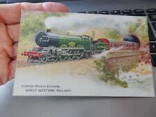 More details for vintage postcard  gwr    railway  cornish riviera express  b