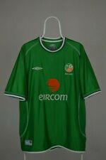 Umbro Republic of Ireland Home Eircom Football Shirt 2001 - 2003 Size XL