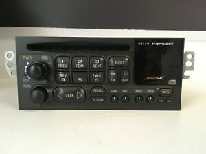 "Chevy Bose Delco AM/FM CD radio with ""Bluetooth""  for 95-02 car/truck # 09368025"