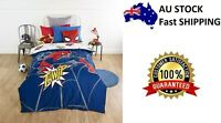 DOUBLE BED HOMECOMING SPIDERMAN KIDS LICENSED QUILT DOONA COVER SET + PILLOWCASE