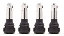 TR413C Rubber Valve Stems with Chrome Covers and Caps TR-413C (Set of 4)