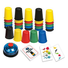 Quick Cups Game 24 Picture Card 30 Cups Bell & Instruction Sheet Party Game BO