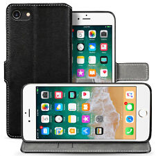 Premium PU Leather Wallet Case For The Apple iPhone 8 Folio Flip Stand Cover