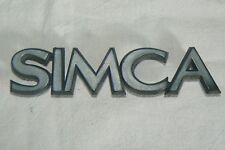 SIMCA  sigle embleme logo insigne monogramme de carrosserie plastique 1