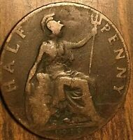 1919 UK GREAT BRITAIN HALF PENNY