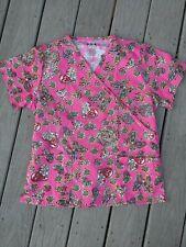 New listing Beverly Hill Uniform Scrub Top med New Nursing Medical Pink Paisley V Neck
