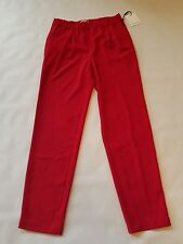 New Calvin Klein red dress pants size 4 elastic waistband