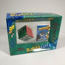 "Rubiks Cube With Hints Booklet Brain Teaser New In Box 2.25"" Cube"
