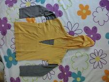 Sweatshirt Damenshirt T-Shirt mit Kapuze Gr. 36 gelb/grau Damenbluse