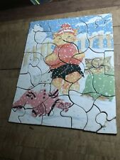 Antique Childrens Puzzle , Classical Kittens In Snow Art By Fern Bisel Peat