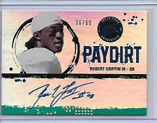 2012 PRESS PASS  ROBERT GRIFFIN III RG3 ROOKIE PAYDIRT AUTO ROOKIE RC 36/50