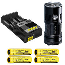 Nitecore TM06S Flashlight XM-L2 U3 -4000Lm w/SC2 Charger & 4x NL189 Batteries