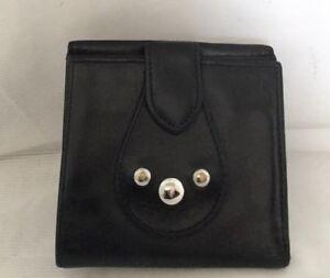 LONGCHAMP Paris Men's Black Leather Wallet, Made In France