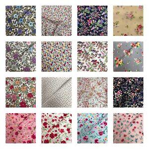 Rose & Hubble Floral Collection - 100% Cotton Poplin Fabric - metres/half metre