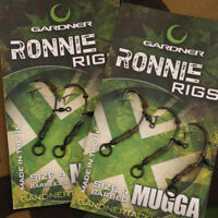 New Gardner Tackle Ready Tied Ronnie Rigs (Pack of 3) for Pop-Ups - Carp Fishing