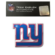 Promark New NFL New York Giants Color Aluminum 3-D Auto Emblem Sticker Decal
