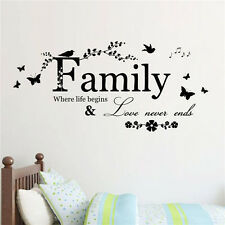 Family Letter Quote Vinyl Decal Art Mural DIY Home Decor Wall Stickers Removable