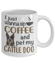 Sip Coffee With My Blue Heeler, Australian Cattle Dog White Coffee Mug