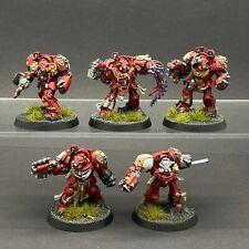 Warhammer 40,000 marines espaciales Ángeles de sangre terminadores de espacio Hulk Pintado